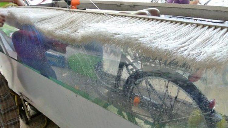 Gönnen Sie Ihrem Rad eine Auszeit - in der neuen Waschanlage vor den Arcaden in der Schönhauser Allee.