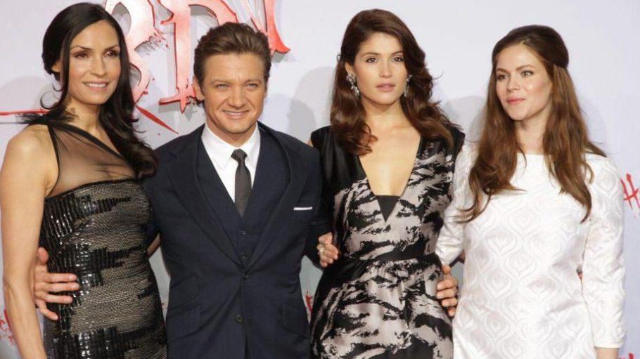 Auch im wahren Leben zauberhaft: Famke Janssen (Ober-Hexe), Jeremy Renner (Hänsel), Gemma Arterton (Gretel) und Phila Vitala (Mina).