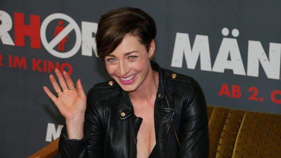 Lachte schon vor dem Film: Kabel1-Moderatorin Kathy Weber.