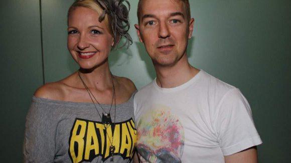 """Ebenfalls bei Nald waren Schauspielerin Constanze """"Batman"""" Behrens (""""Gutes Wedding, schlechtes Wedding"""") und Designer Gregor Marvel."""