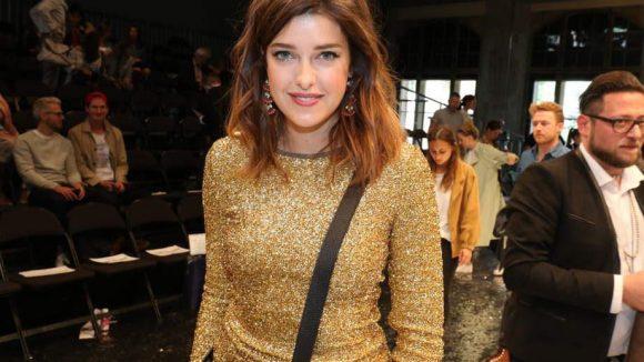 Model Marie Nasemann war als Gast da ...