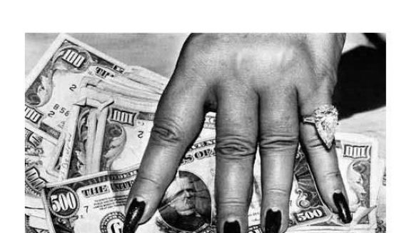 """""""Fat hand and dollars"""", Monte Carlo, 1986"""