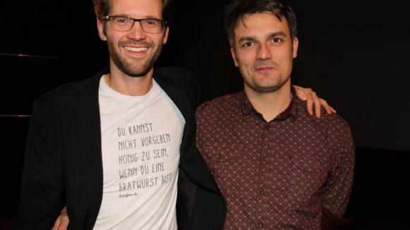 Die beiden Regisseure Jonas Grosch (links) und Carlos Val durften natürlich auch nicht fehlen.
