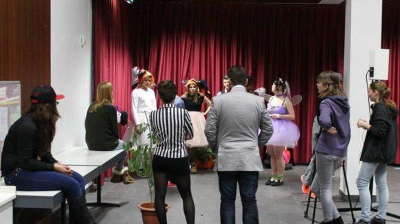 Die Filmagentur bei Proben während der Projektwoche.