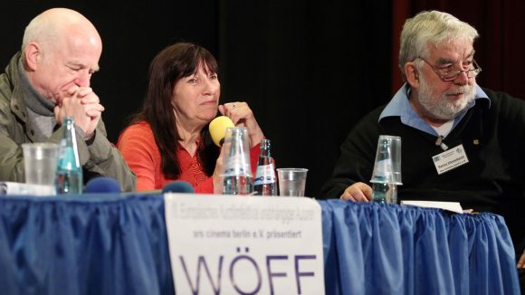 Gunther Scholz und Renate Epperlein von der Festival Jury mit Rainer Hässelbarth rechts im Bild.