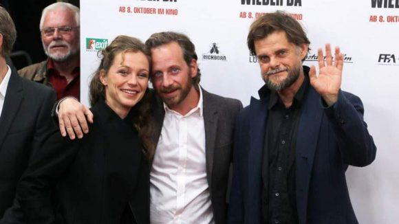 Auch Franziska Wulf, Fabian Busch und Lars Rudolph (von links) gehören zum Cast des Films.