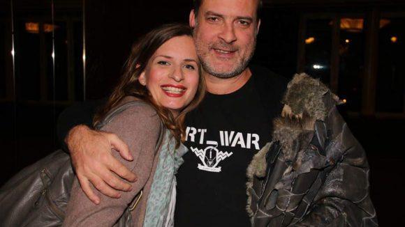 Mit Marco Willms war ein weiterer Doku-Regisseur bei der Premiere zu Gast. In seiner Begleitung: Drehbuchautorin Stefanie Ebert.