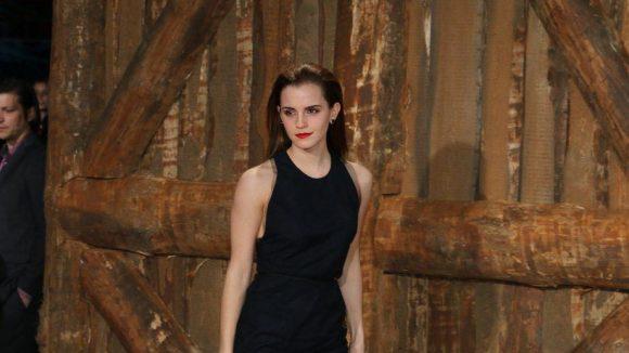 Nicht nur wegen ihrer sehr roten Lippen ein Star des Abends: Emma Watson.
