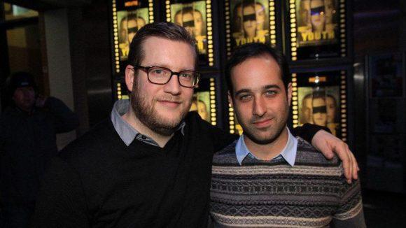 Produzent Sol Bondy (l.) und Regissuer Tom Shoval kamen ebenfalls zur Premiere in der Kulturbrauerei.