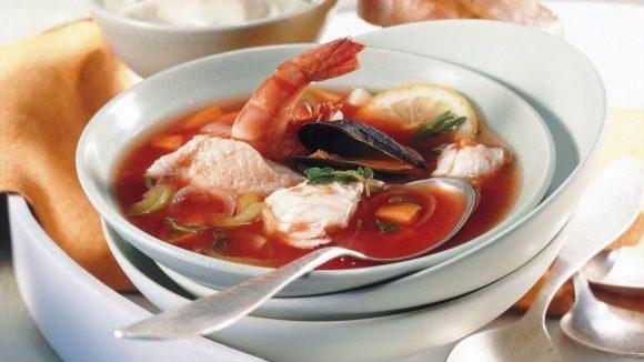Eine ganz besondere Delikatesse: Fischsuppe.