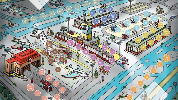 Einen Flughafen zu bauen sei kein Kinderspiel? Stimmt! Überzeug dich selbst und stelle den BER fertig.