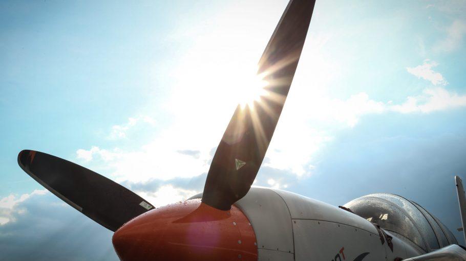 Propellermaschinen wie diese kannst du als Besucher der ILA 2016 am Boden und in der Luft bestaunen.