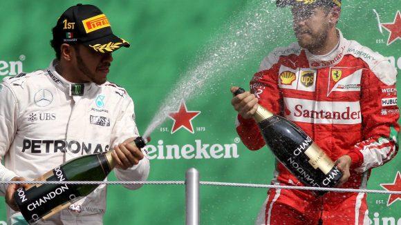 Schon bald könnten Lewis Hamilton und Sebastian Vettel ihre Siege auch in Berlin bejubeln.