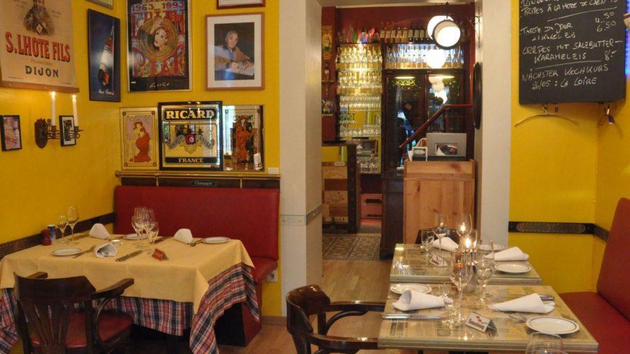 Das französische Restaurant Le Piaf unweit vom Schloss Charlottenburg.