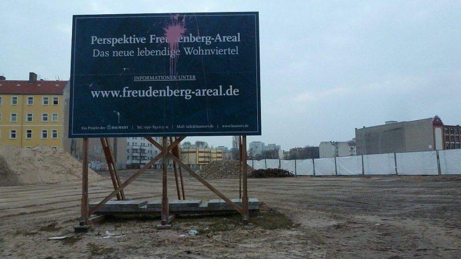 Nicht jeder Friedrichshainer begrüßt das neue Wohnquartier an der Boxhagener Straße.