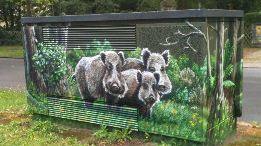 In Frohnau sind die Wildschweine los.