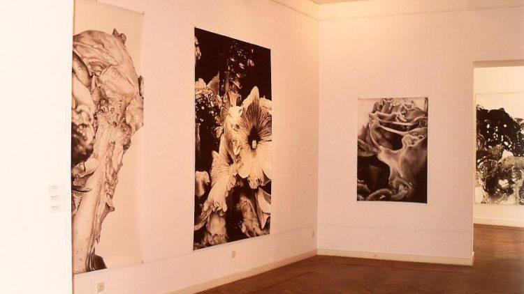 """Sechs Ausstellungen werden jährlich in der Galerie realisiert. Momentan zu sehen: """"Nacht-Räume"""" von Peter Hock."""