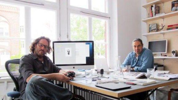 Die beiden Galeristen Barak Bar-Am (l.) und Jean-Pierre Neumeister