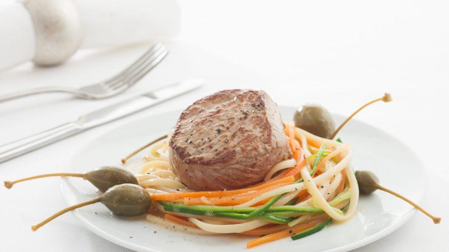 So kann ein typisches Abendessen bei Gaumenzauber aussehen.