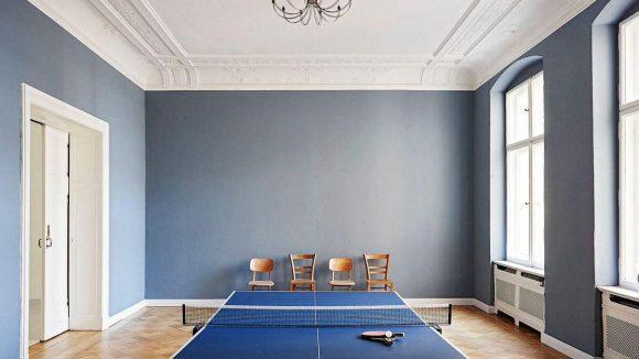Wird sehr gerne angenommen: die Tischtennis-Platte. Sport kann schließlich auch inspirierend sein.