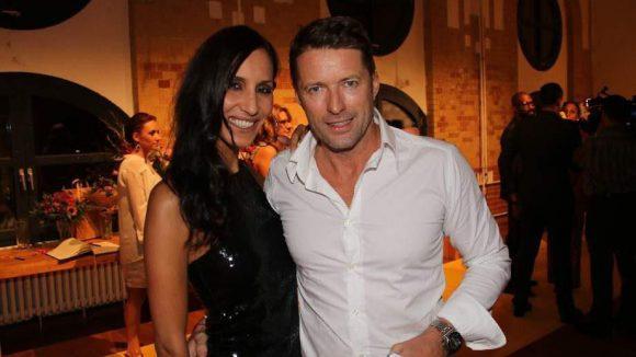 Schauspieler Bruno Eyron und Freundin Friederike Dirscherl.