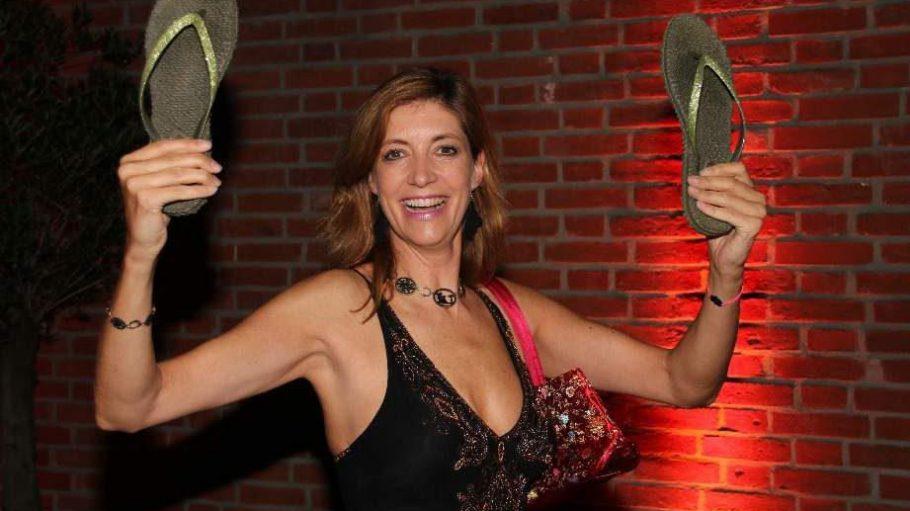 """... das Motto des Abends lautete """"Barefoot but Glamouress"""" und auch Ex-MTV-Chefin Christiane zu Salm hielt sich dran."""