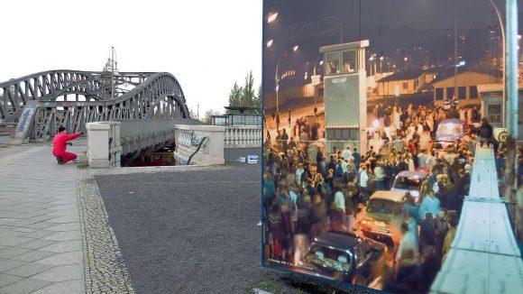 Der Gedenkort Bornholmer Straße erinnert an den Abend des 9. November 1989. Hier öffnete sich der Schlagbaum zuerst.