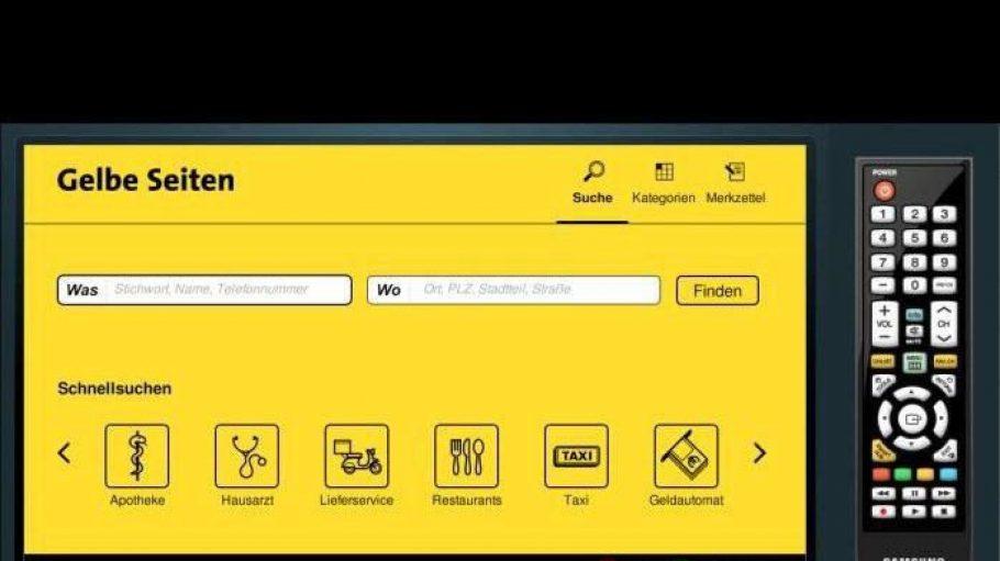 Gelbe Seiten App im TV