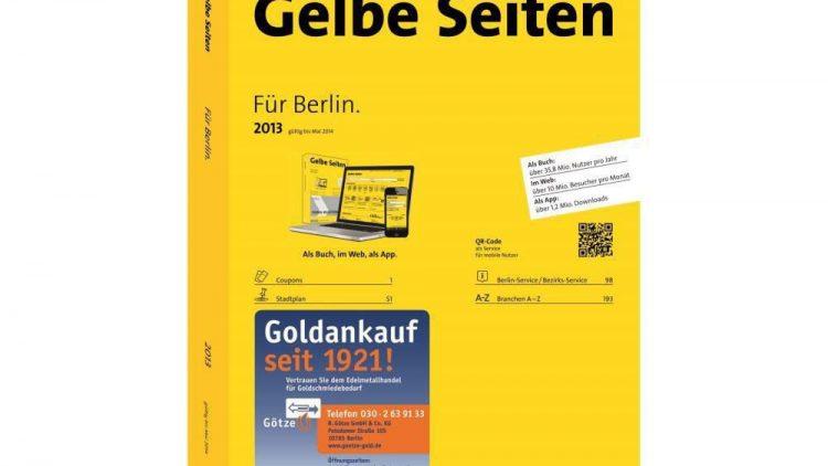 Immer ein zuverlässiges Nachschlagewerk: das Gelbe Seiten-Buch.