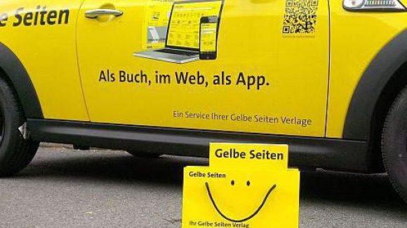 Die neue Berlin-Edition des Branchenbuches ist da und wartet auf fleißige Abholer.
