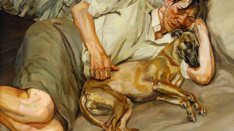 """Das Ölgemälde """"Doppelporträt"""", entstanden 1988–89, ergänzt die Sammlung der Radierungen von Lucian Freud."""