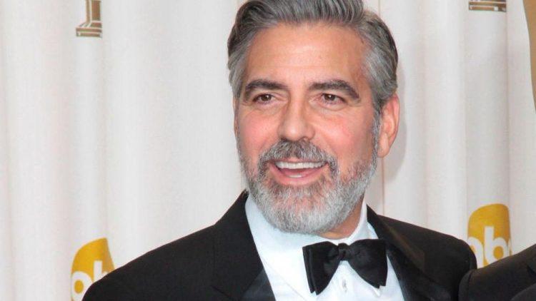 George - mit Bart - bei der diesjährigen Oscar-Verleihung.