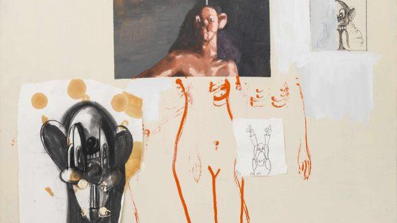 George Condos Pod Collage, 2000, Öl auf Leinwand, aus der Sammlung des Künstlers, New YorkCourtesy Sprüth Magers und Skarstedt.