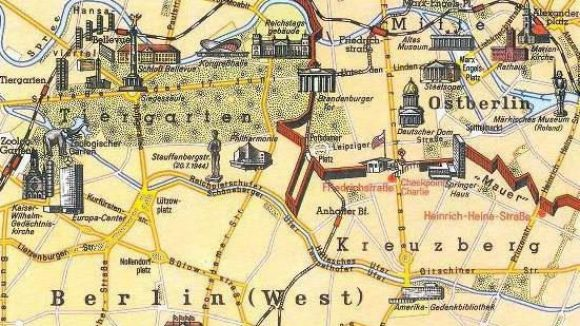 Geteilte Stadt.Dieser Plan von 1968 stammt aus dem Westermann-Schulatlas.