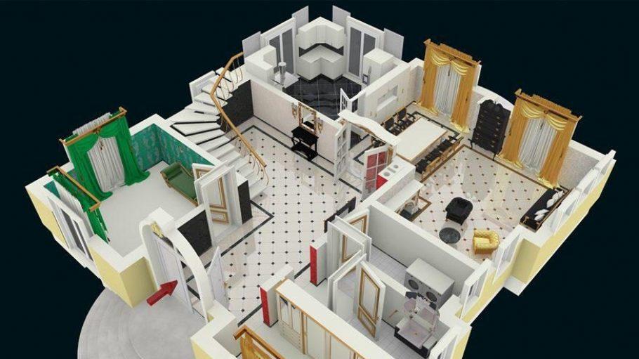 ... und so könnte Ihr Glööckler-Haus von innen aussehen.