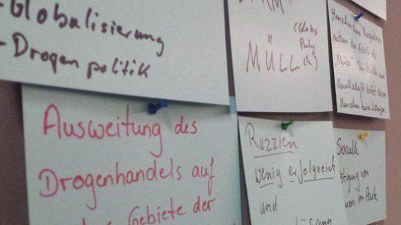 Die vielen Probleme und die wenigen Vorschläge der Anwohner wurden an einer Pinnwand festgehalten.