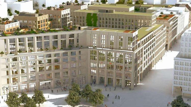 So soll sie aussehen: eine Visualisierung der Mall of Berlin am Leipziger Platz.