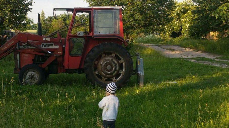 Ja, so einen Traktor sieht man nicht alle Tage in Berlin. Auf Gut Boltenhof gibt's derer gleich mehrere!