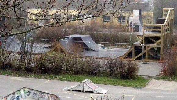 Die neue Rampe im Libertypark.