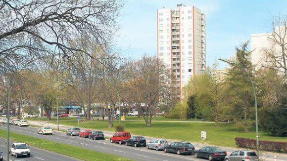 Viel Grün und hohe Häuser: Der Berliner Hansaplatz