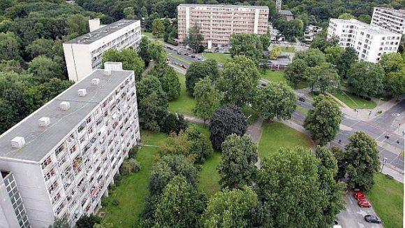 Das Hansaviertel aus der Vogelperspektive