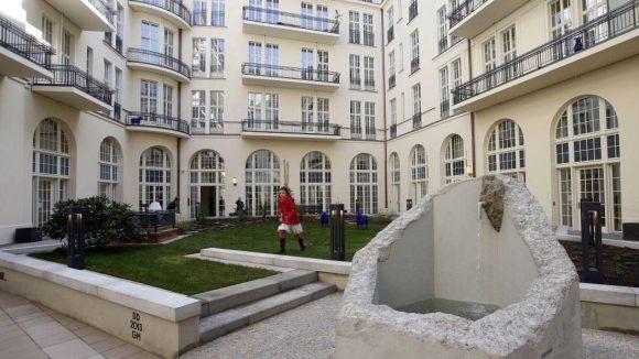 Der Brunnenhof ist der hinterste der drei Innenhöfe.