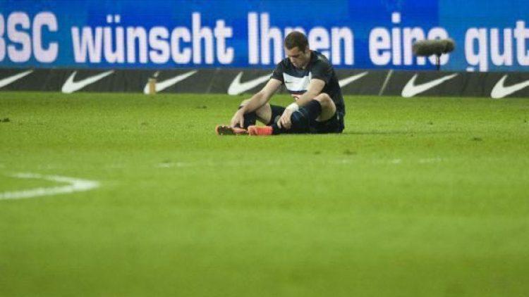 Unglücklicher Nicht-Torschütze: Pierre-Michel Lasogga nach dem 1:2 seiner Hertha gegen den SC Freiburg.