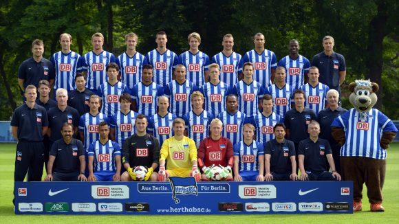 Hertha BSC´s Kader für die Saison 2013/14.