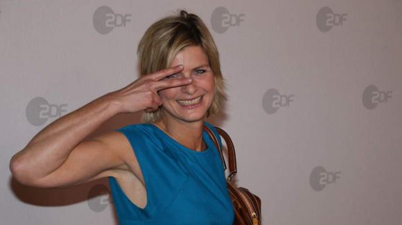 Heute-Moderatorin Barbara Hahlweg kam als Gast.