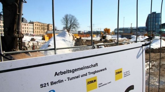 Hier sollen, wenn alles gut geht, die S-Bahnen der S21 zwischen Nordring und Hauptbahnhof fahren.