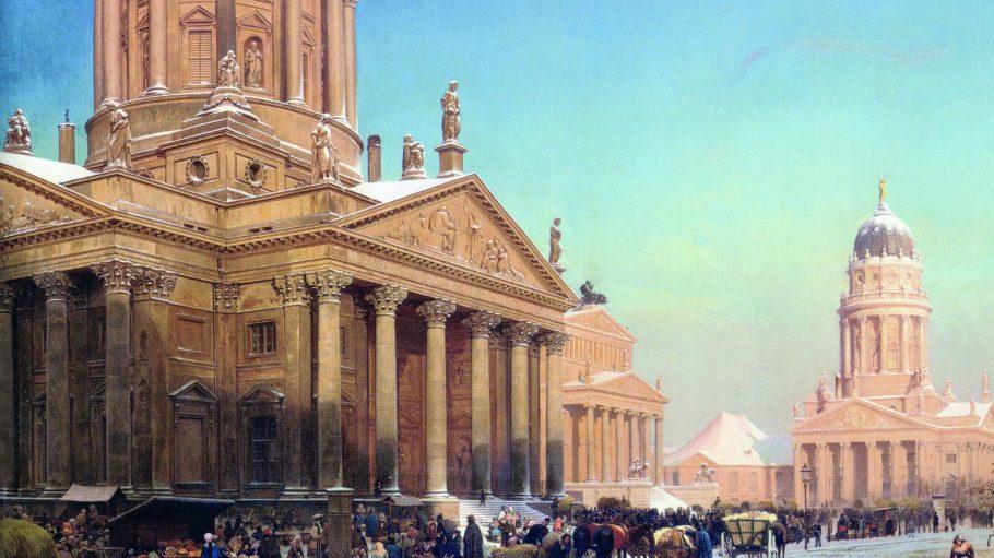 Mitte des 19. Jahrhunderts war der Gendarmenmarkt Schauplatz von Unruhen und Plünderungen.