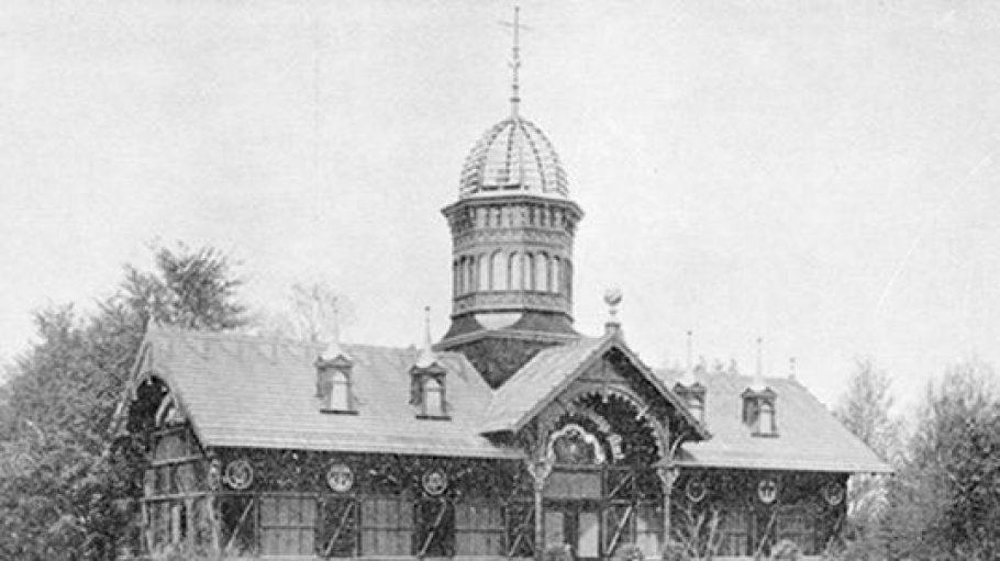 Telephon-Pavillon bei der Gewerbeausstellung 1896