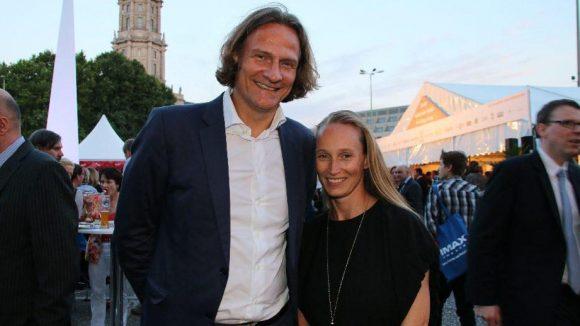 Die Geschäftsführer der neuen .berlin-Domain, Dirk Krischenowski und Katrin Ohlmer.