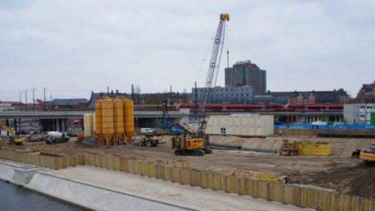 Baustelle: Der Humboldthafen am Hauptbahnhof.